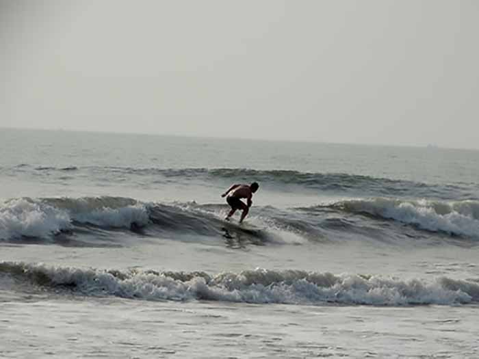 Surfing at Kashid Beach