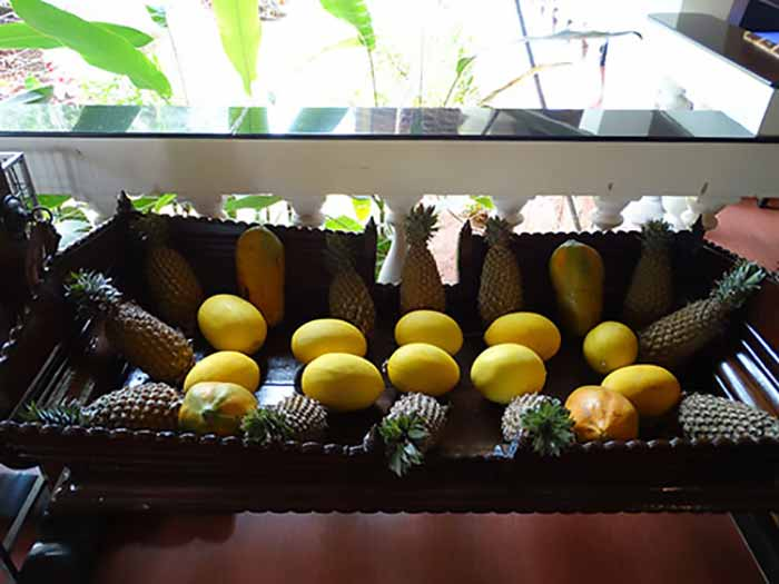Fruits on display at the Restaurant