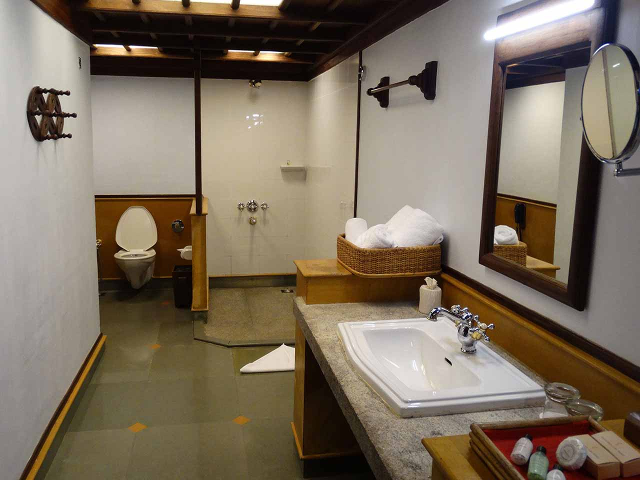 Bathroom at Kumarakom Lake Resort