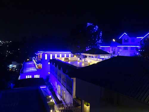 Le Poshe Hotel, Kodaikanal at night