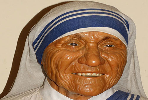 Wax Statue of Mother Theresa