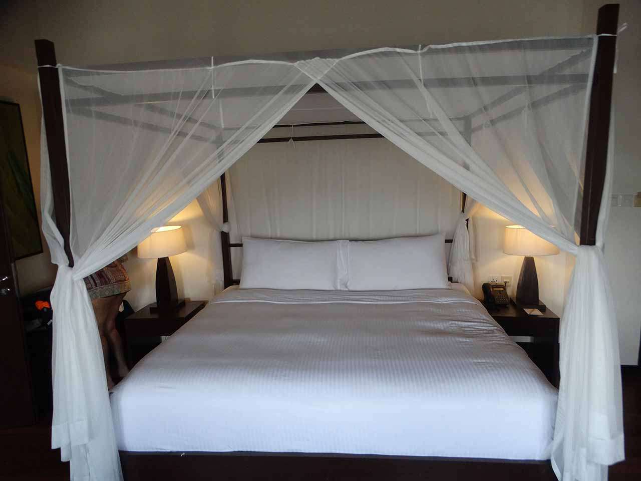 Bed at the resort
