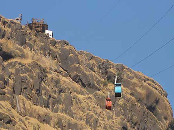 Ropeway to the fort