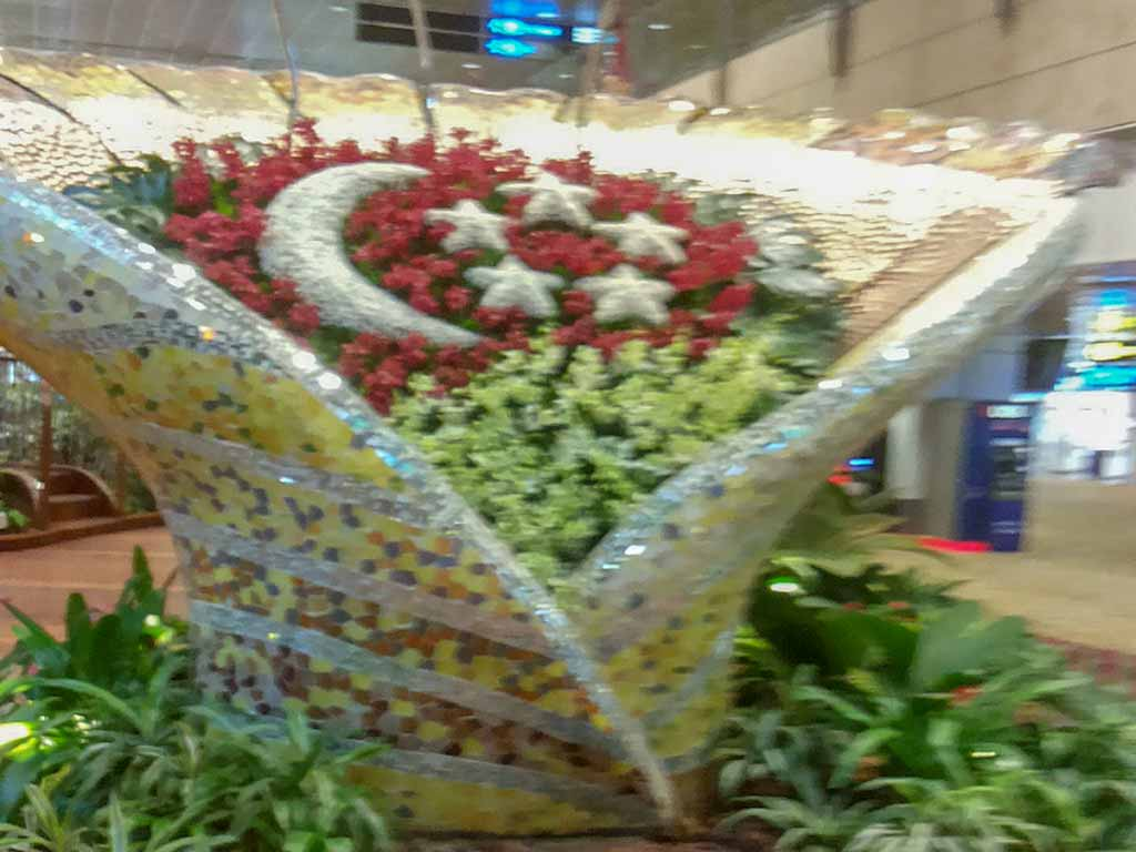 Flower decoration inside the Airport