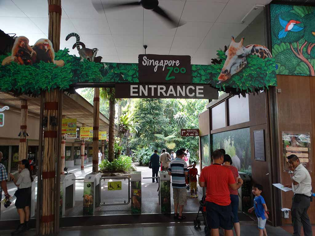 Entrnace to Singapore Zoo