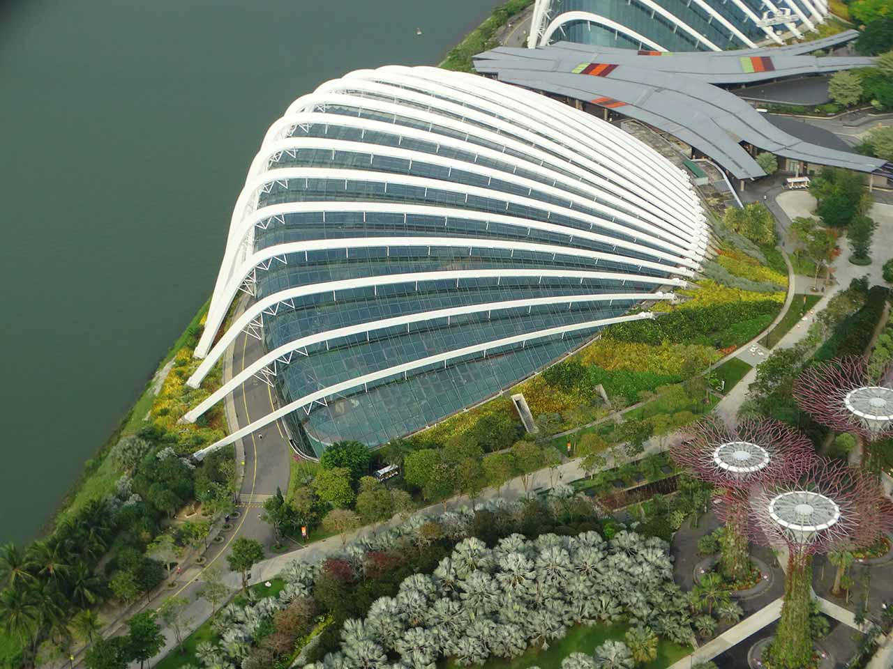 Flower Dome in Marina Bay Singapore