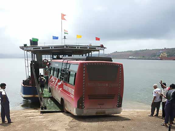 Bus on the boat